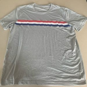 Other - 5 for $15! Old navy dry fit grey striped rwb tee